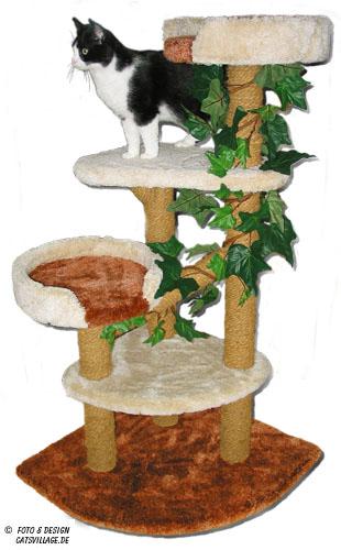 kratzb ume von catsvillage der individuelle kratzbaum f r ihre katzen kratzbaum nach ma. Black Bedroom Furniture Sets. Home Design Ideas